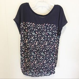 Just Be Navy Short Sleeves with Pink,White,Blue M